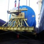 Transport par barges de colis lourds