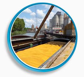 transport fluvial céréales
