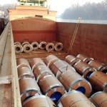 Transporteur fluvial produits métaliques