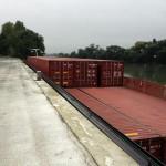 Transporteur fluvial de conteneurs Le Havre Paris