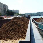 Transport fluvial de déchets industriels et de gravats de chantier