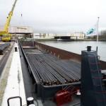 transport fluvial de fers à béton pour le BTP